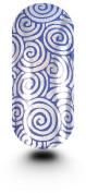 Kooky Retro Swirls Silver & Blue Wraps - TBP16736