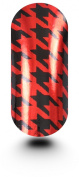 Kooky Nail Wraps Hounds Tooth Black & Metallic Red