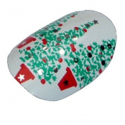 Chix Nails Nail Wraps Christmas Tree White Snow Designer Fingers Toes Vinyl Foils Minx Trendy Style
