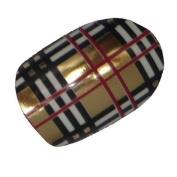 Chix Nails Nail Wraps Chrome Burberry Cheque Fingers Toes Vinyl Foils Beauty Minx Style