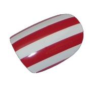 Chix Nails Nail Wraps Red White Stripes Fingers Toes Vinyl Foils Minx Trendy Style