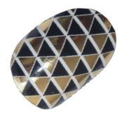 Chix Nails Nail Wraps Zulu Gold Designer Fingers Toes Vinyl Foils Minx Trendy Style