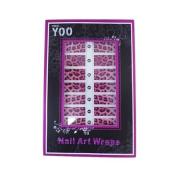 16x Nail Art Wraps Sticker Nail Patch Foils Decoration - Leopard Pattern