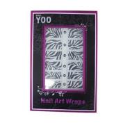 16x Nail Art Wraps Sticker Nail Patch Foils Decoration - Zebras Design