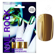 Nail Rock Nail Wraps - Metallic Gold