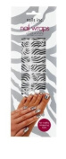Nails Inc Black and White Zebra Nail Wraps - Pack of 24 Wraps