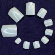 500pc Natural Ivory False Fake Artificial UV Gel Acrylic Toe Nail Art Tips 10 Sizes