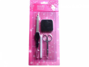 Manicure polish kit with scissors, nail polisher, nail, skin remover.