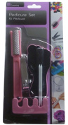 Pedicure Set with Nail Clipper, Toe Scrubber, Finger Separator, Skin Remover.