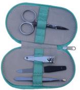 Quality Manicure Set in Aqua Case by Mele