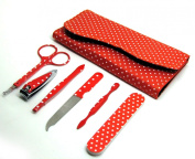 6 Pcs Nail Care Set Personal Manicure & Pedicure Set, Travel & Grooming Kit In Red Colour