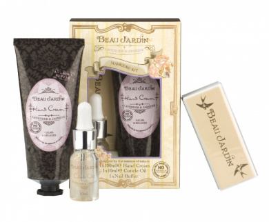Beau jardin lavender jasmine manicure kit by heathcote for Beau jardin hand cream