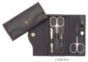 3 Swords - 5 Piece Manicure & Pedicure Case, made of authentic Leather, Grade