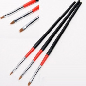 3pcs Tiny Acrylic UV GEL Nail Art Design Brush Pen Drawing Painting set