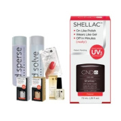 Cnd Shellac Starter Kit B - Top & Base 7.3Ml + Fedora - Uv Soak Off Gel Polish