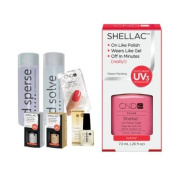Cnd Shellac Starter Kit B - Top & Base 7.3Ml + Gotcha - Uv Soak Off Gel Polish