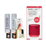 Cnd Shellac Starter Kit B - Top & Base 7.3Ml + Hollywood - Uv Soak Off Gel Polish