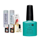 Cnd Shellac Starter Kit B - Top & Base 7.3Ml + Hotski To Tchotchke - Uv Soak Off Gel Polish