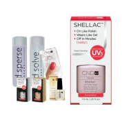 Cnd Shellac Starter Kit B - Top & Base 7.3Ml + Romantique - Uv Soak Off Gel Polish