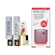 Cnd Shellac Starter Kit B - Top & Base 7.3Ml + Strawberry Smoothie - Uv Soak Off Gel Polish