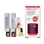 Cnd Shellac Starter Kit B - Top & Base 7.3Ml + Masquerade - Uv Soak Off Gel Polish