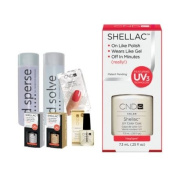 Cnd Shellac Starter Kit B - Top & Base 7.3Ml + Negligee - Uv Soak Off Gel Polish