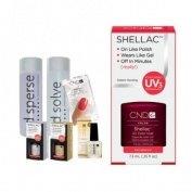 Cnd Shellac Starter Kit B - Top & Base 7.3Ml + Decadence - Uv Soak Off Gel Polish