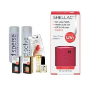 Cnd Shellac Starter Kit B - Top & Base 7.3Ml + Hot Chilis - Uv Soak Off Gel Polish