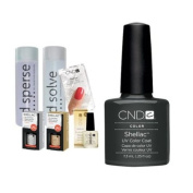 Cnd Shellac Starter Kit B - Top & Base 7.3Ml + Asphalt - Uv Soak Off Gel Polish