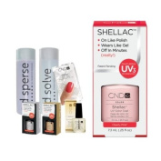 Cnd Shellac Starter Kit B - Top & Base 7.3Ml + Clearly Pink - Uv Soak Off Gel Polish