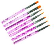 Micro Trader 7 Pcs UV Gel Acrylic Nail Art Builder Brush Pen Design