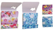 Butterflies & Flowers Mini Nail File Emery Boards in Small 'Match Stick Packet' - Pack of 2