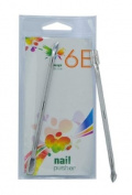 6E 8.9cm Satin Finish Nail Pusher