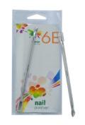 6E 8.9cm Satin Finish Nail Pusher