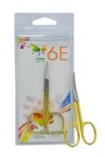 6E 8.9cm Half Gold Fix Screw, Curved Cuticle Scissors