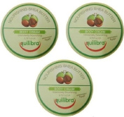 3x Equilibra Nourishing Shea Butter Body Cream 250ml