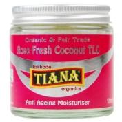 Tiana Organic Rose Fresh Coconut Anti Ageing Moisturiser 100ml