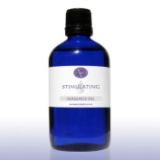 100ml STIMULATING Massage Oil - Rosemary, Lemon, Juniper & Bergamot Pure Essential Oil