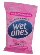 WET One's Be Cute Delicate 12 Antibacterial Wipes
