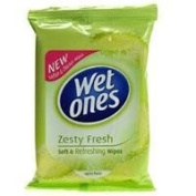 Wet Ones Soft & Refreshing Wipes Zesty Fresh 12