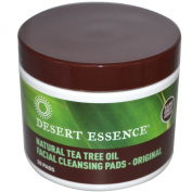 Desert Essence Tea Tree Oil Facial Cleansing Pads 50 Count