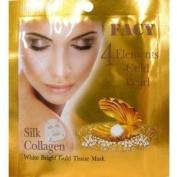 Facy White 4 Elements Gold Pearl Silk Collagen White Bright Gold Tissue Mask