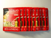 Korean Cosmetics_Cellio Extra Soothing Essential Mask_Red Ginseng_10 sheets