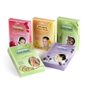 5 + 5 FREE Assorted Herbal Beauty Face Masks inc