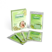 "5 + 5 FREE Beauty Face Masks with Cucumber and Collagen Essence ""A Spa Like Facial at Home"" Hypoallergenic, Not Tested on Animals"