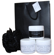 Mens Facial Exfoliating,Clay Detox mask and Moisturising gift set /tags