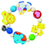 Heimess Wooden Elasticated Touch Ring Rattle