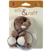 Elli & Raff Soft Baby Rattle - Teether Toy - Elephant Design