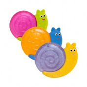 Mebby Rattle Teething Rings Snails Shaped