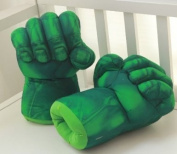 Hulk Smash Hands Soft Toy Doll Gloves Big Green One Pair Fun New